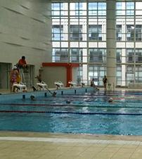 武汉众和祥游泳馆用上了浩歌水晶分隔帘